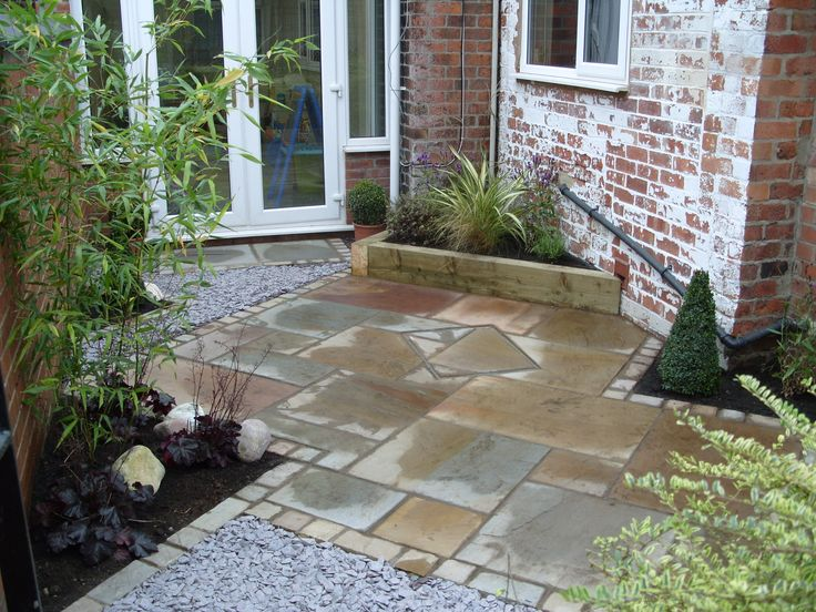 Image detail for this small space was transformed with for Paved courtyard garden ideas