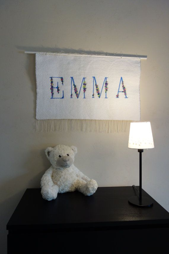 Personalized baby wall decor/Personalized woven by LaleShopNiki