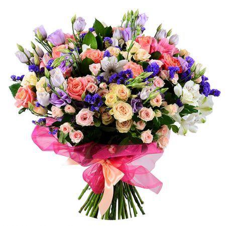 Приятный букет цветов, купить букет с доставкой