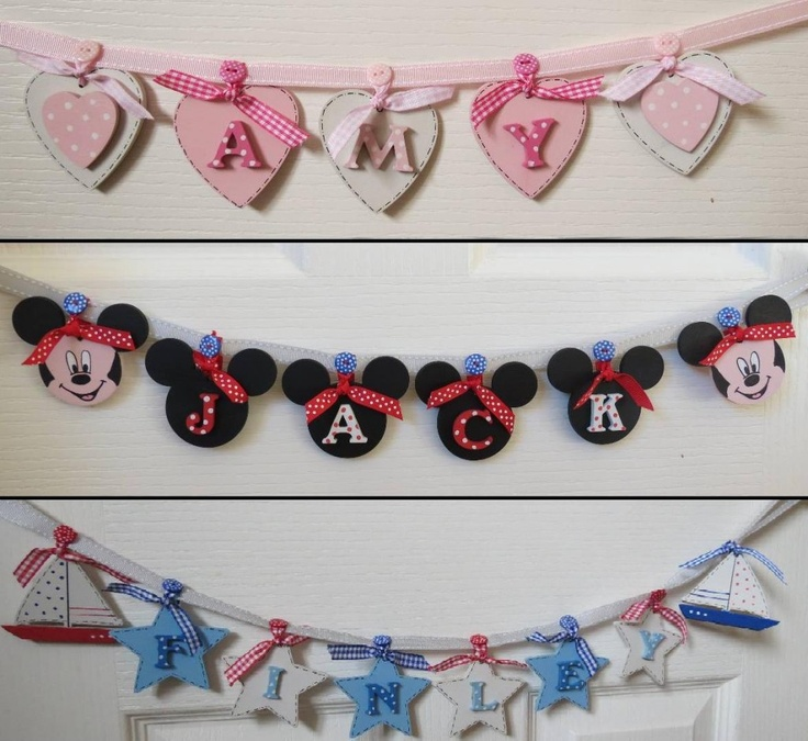 Wooden bunting - personalised - The Supermums Craft Fair