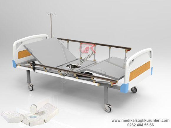 lazımlıklı klozetli tuvaletli motorlu elektrikli ev tipi hastane yatağı
