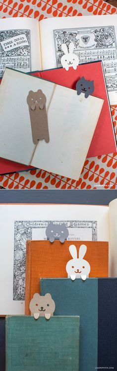 #DIY #Papercut #Bookmarks www.LiaGriffith.com                                                                                                                                                                                 Más