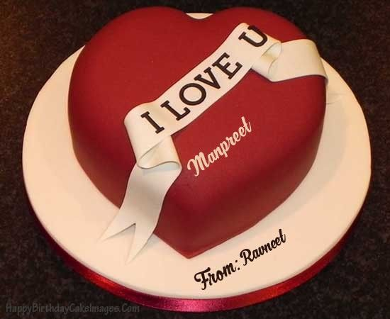 Heart Shaped Birthday Cake For Husband Happy Images