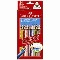 Faber Castell Watercolor pencils. For watercolor or regular use. or even face paint!