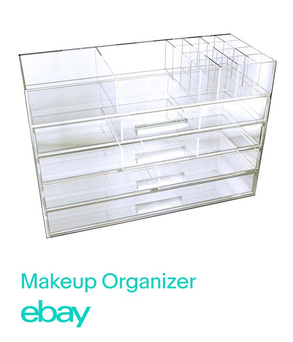 Cut the clutter with makeup organizers.
