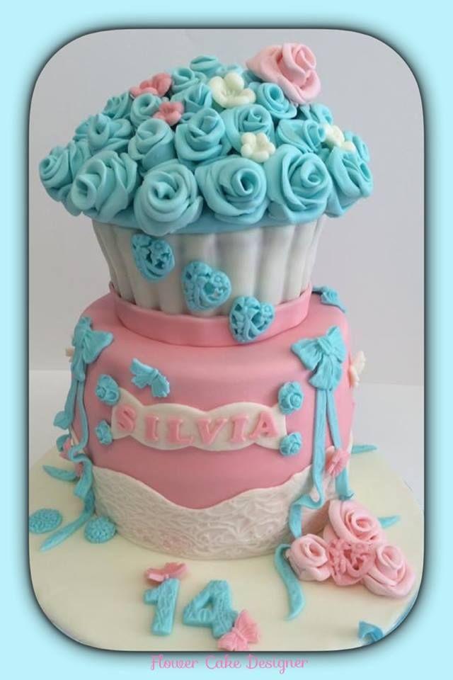 FLOWER CAKE DESIGNER: Bolo de aniversário de menina