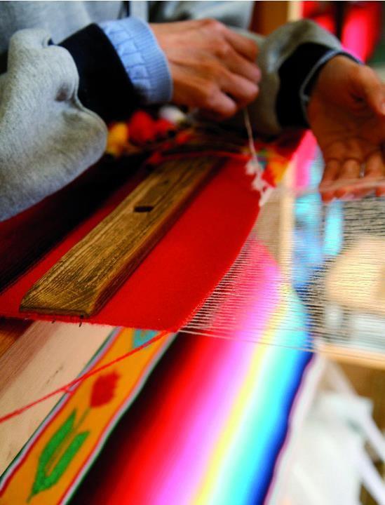 """""""Sarapes"""", artesanías en Saltillo, Coahuila, México. """"Blankets"""", handicrafts in Saltillo."""