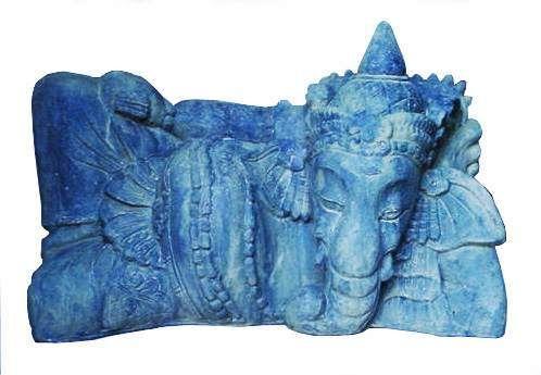 Dios Ganesha, Escultura En Cemento, Grande - $ 490,00
