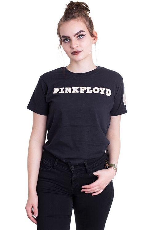 Pink Floyd - Logo & Prism Applique Navy - T-Shirt