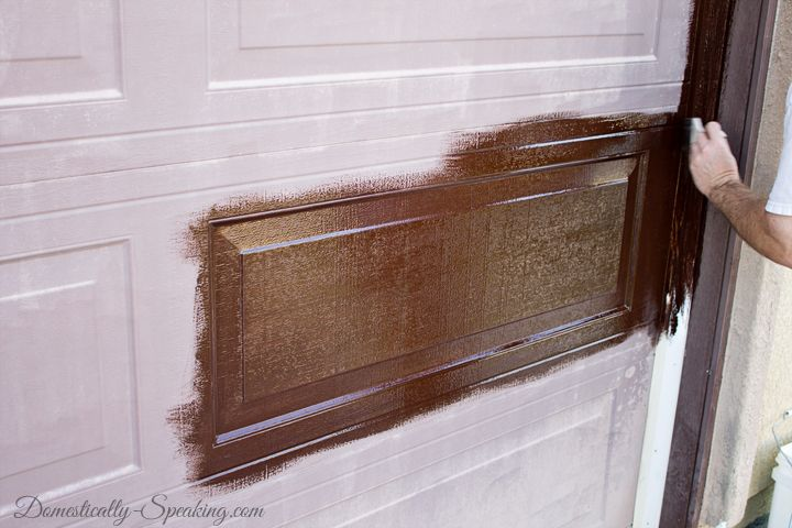 Diy projects crafts and ideas for the home and garden for How to stain garage door