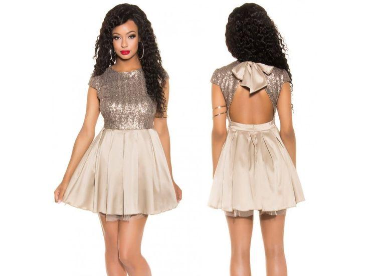 Koktejlové šaty ve zlaté barvě na Bestmoda.cz ♥ Golden dress for your prom, wedding or party