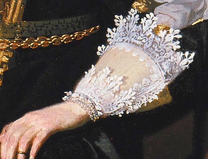 Portrait of a Lady by Thomas de Keyser, 1632 the Netherlands, Gemäldegalerie - detail