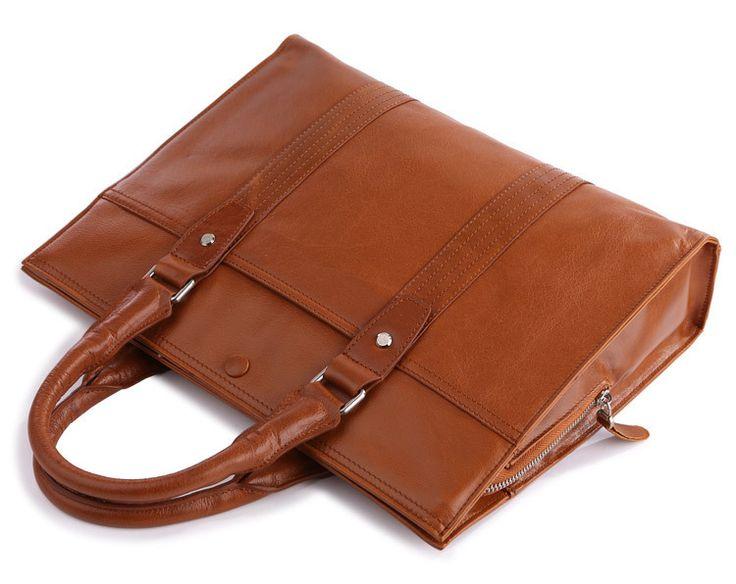 "Handmade Superior Leather Briefcase / 13"" MacBook or 13"" 14"" Laptop Bag"