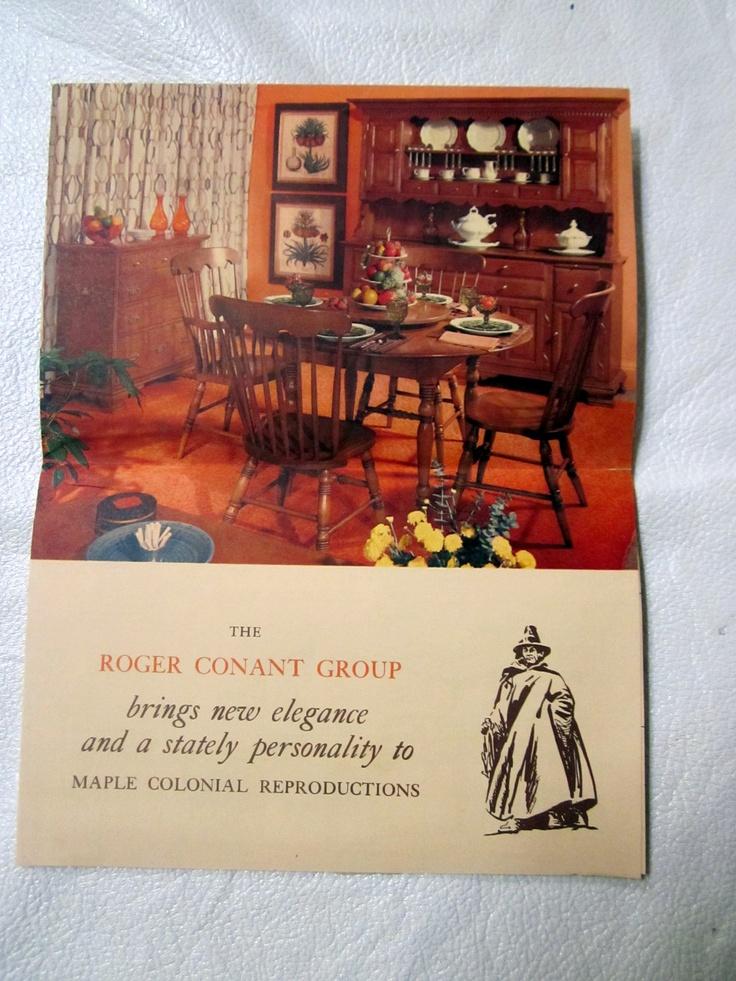 Vintage Conant Ball Furniture Catalog Brochure Maple Wood