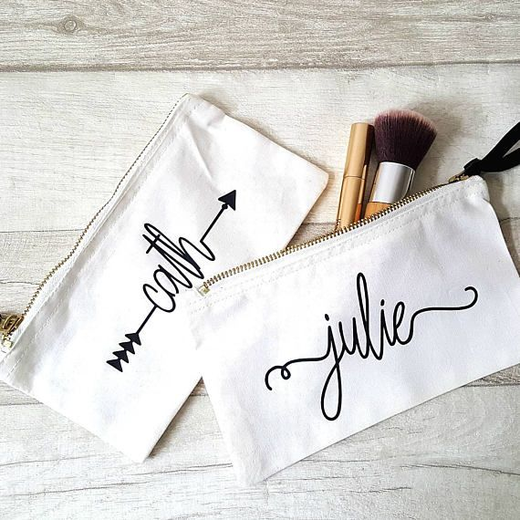 Personalised make up bag storage bag make up holdercosmetic