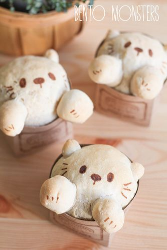 Kitty Cat Bread Buns (stuffed with Japanese curry) -- I can see this working well with other types of fillings (ham & cheese, pepperoni, bbq meats)