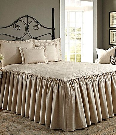Tan Linen Bed Skirt