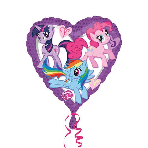 Doğum Günü Little Pony Kalp Temalı Folyo Balon  Paket içerisinde Doğum günü partileriniz için birinci kalite, 38 cm ebatlarında 1 adet temalı Folyo Balon bulunmaktadır.