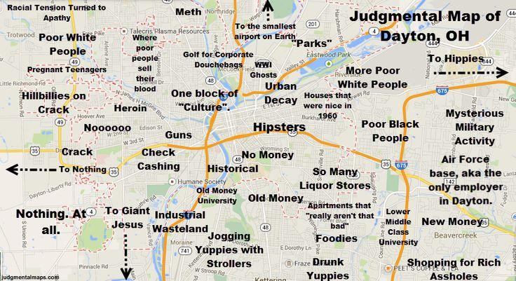 Ohio Dayton Ohio cruising map with gay