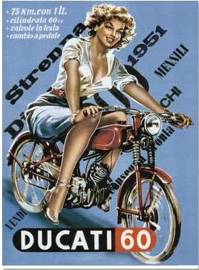 Ducati  60 1951, I have this magnet on my fridge, reminds me of me!!!!!