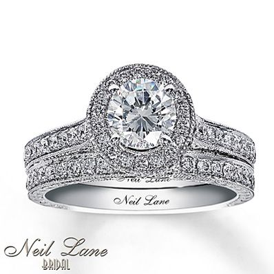 neil lanes eiffel tower ring kay jewelers diamond bridal set 2 ct tw round - Kay Jewelers Wedding Rings Sets