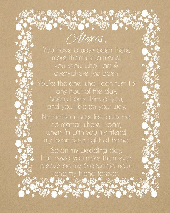 Asking Bridesmaid Gift, Will you be my bridesmaid wine label, Will you be my maid of honor, Wine labels for bridesmaids, Bridesmaid poem