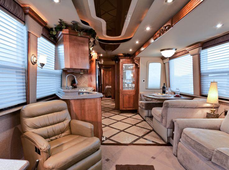 Luxury RV Interior | ROLLu0027N NICE U0026 CLEAN }:0( | Pinterest | Rv Interior, Luxury  Rv And Rv