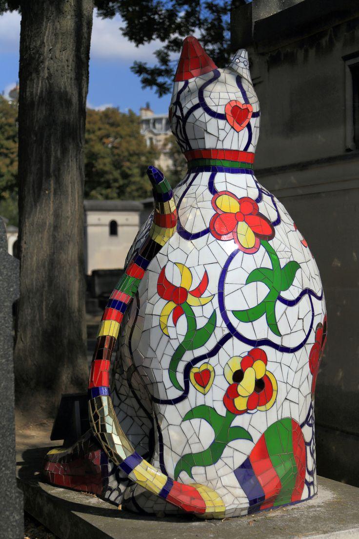 2014/09/15 14h42 Niki de Saint Phalle, «Le chat» | Cimetière de Montparnasse (Paris)