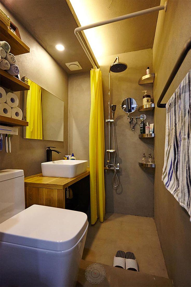 Foto's van een industriële badkamer in de kleur grijze door 제이앤예림design   homify