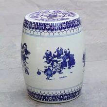 Bleu Et Blanc Chinois en céramique Tabouret décoration dressing tabouret chaussures changeant tabouret antique chinois tabourets de jardin en céramique(China (Mainland))