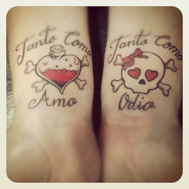 64 best images about marecuza tattoo piercing on for Love n hate tattoo