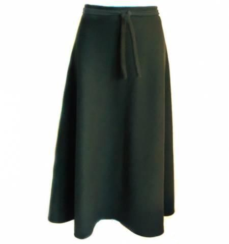Зимняя теплая юбка макси