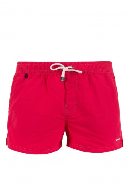 PAUL BW - beachwear - Man - Gas Jeans - Bathing trunks short boxers, waist sash, side slits on the bottom, side pockets and one back pocket with velcro, embroidered logo. Colour: red