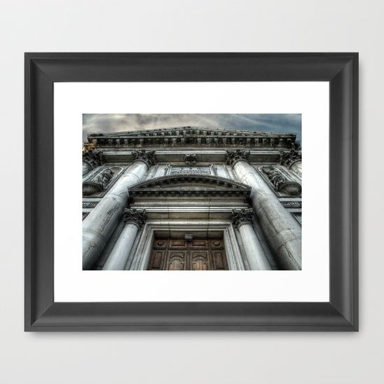 "FRAMED FINE ART PRINT/ BLACK MINI (12"" X 10"") Serenità Venice church Italy by LaCatrina.it"