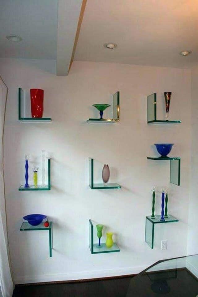 Pin By Er ਮ ਨ On Garden Design In 2020 Glass Shelves Decor