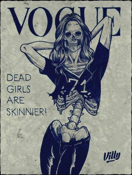 Dead girls on vogue mag