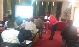 Facilitating a seminar for the Ghana Book Publishers Association!