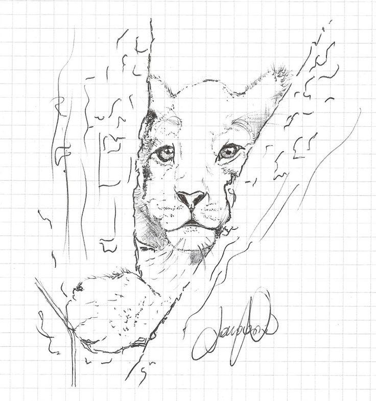 Lion King lavoro a penna formato mini painter 20x15