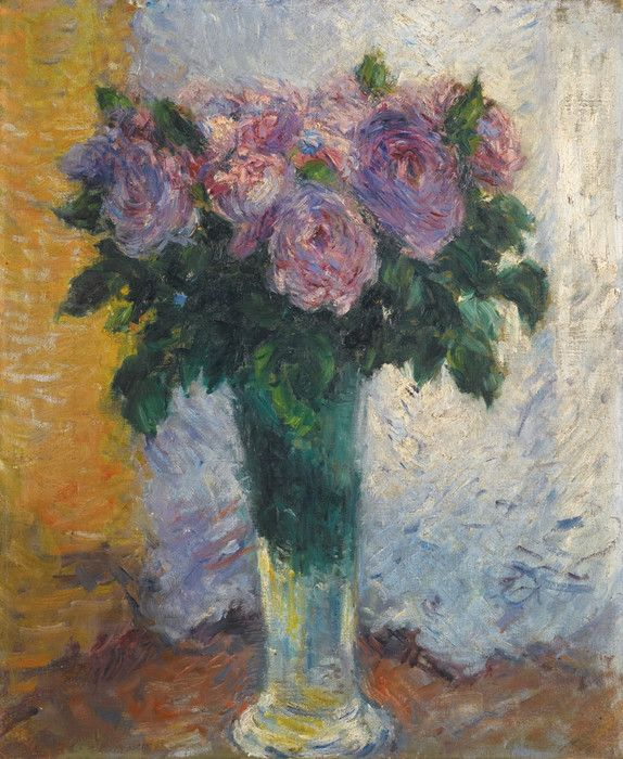 A Vase of Roses by Gustave Caillebotte | Art Posters