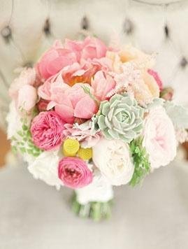 pink, white + green: Succulent, Wedding Bouquets, Wedding Ideas, Weddings, Pretty Color, Wedding Flowers, Weddingideas