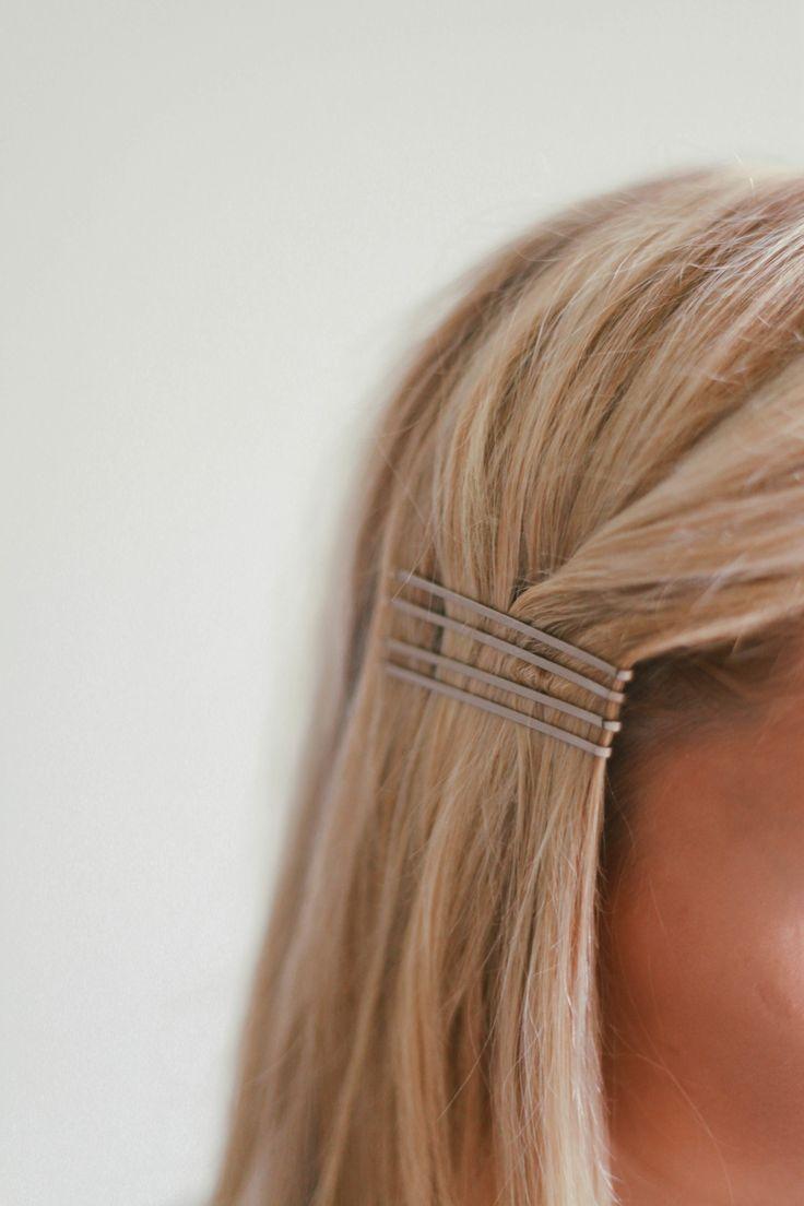 simply pinned hair