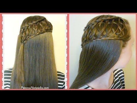 Squiggle Knot Braid, Beautiful Half Up Hairstyle Tutorial | Hairstyles For Girls - Princess Hairstyles