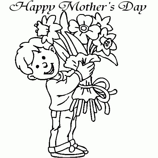 Mothers Day Coloring Pages For Boys
