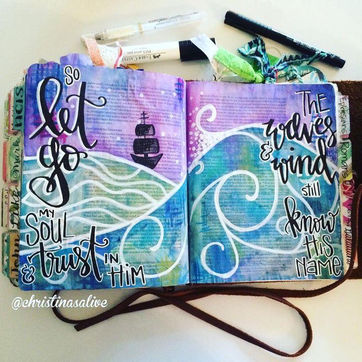 Bible Journaling by Christina Lowery @christinasalive