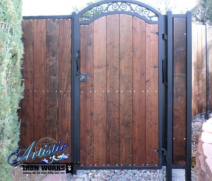 Wrought Iron And Wood Gate Fence Ideas Pinterest And