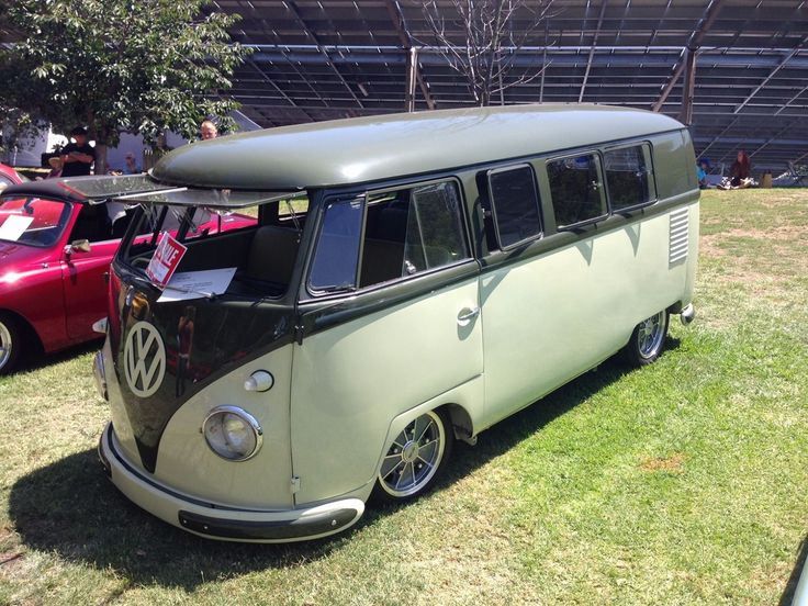 Volkswagen Bus Vanagon Palm Green Sand Green | eBay ♠ re-pinned by http://www.wfpblogs.com/category/toms-blog/