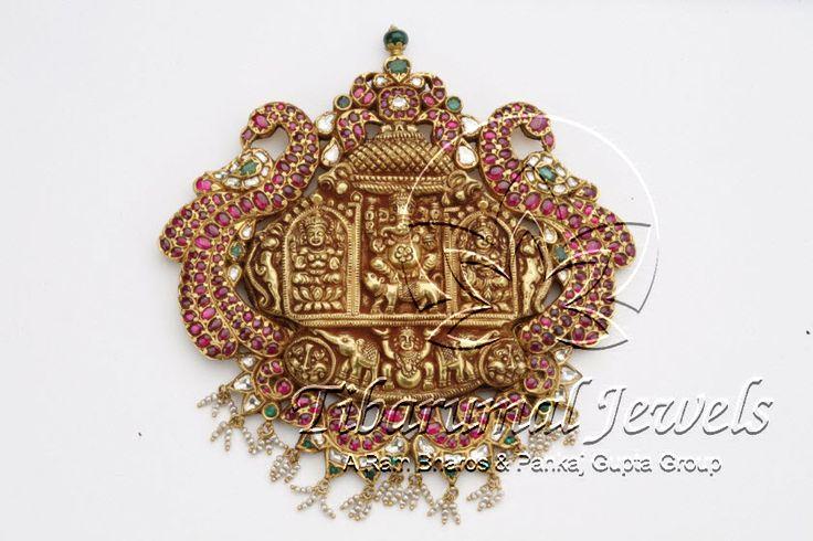 Nakshi Kundan Locket   Tibarumal Jewels   Jewellers of Gems, Pearls, Diamonds, and Precious Stones