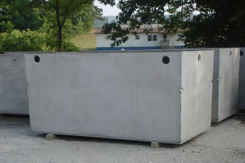 This A Concrete Septic Tank The Lids Are Removable Then You Have A Big Concrete Tank With