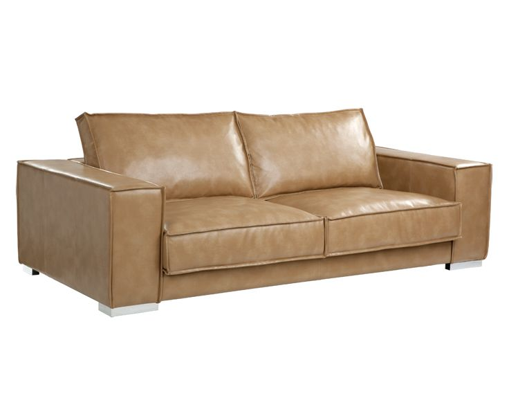 Sofa Beds This majestic sofa is very elegant and fortable by design Available in a soft and resilient grey and peanut nobility bonded leather with CA foam