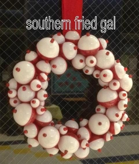 southern fried gal: Fishing Bobber Wreath